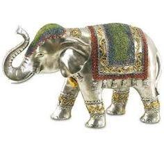 elefante de la india decorado - Buscar con Google Indian Elephant, Elephant Love, Elephant Parade, Bronze, Home Deco, Sculpture Art, Decoupage, Dinosaur Stuffed Animal, Oriental
