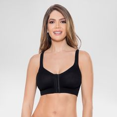 cc9afc0980bb2 Annette Women s Post Surgical Front Close Recovery Bra - Black Xxl
