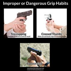 Learning to hold and handle a firearm takes practice and more practice until you have muscle memory.