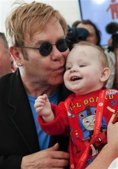 Do you believe there is there any significance to Sir Elton John's son being bor Discussions in the HubPages Politics and Social Issues Forum Elton Jon, David Furnish, The Boy Is Mine, Bernie Taupin, Elton John Aids Foundation, Becoming A Father, Beat Generation, Do You Believe, Go Outside