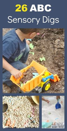 26 Alphabet Sensory Digs perfect for kids who love to dig and learn the alphabet!