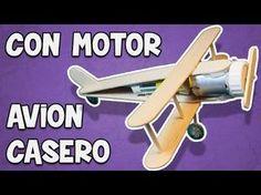 Cómo Hacer un Avión Eléctrico Casero de Juguete de Madera con Motor - YouTube