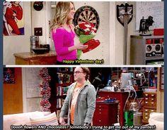 Chocolate anf flowers are the way to get Leonard's panties off Sheldon Leonard, Amy Farrah Fowler, Soft Kitty Warm Kitty, Romanogers, Himym, Comedy Show, Modern Family, Big Bang Theory, Best Tv