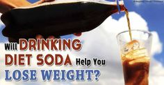 Can drinking diet soda help you lose weight?