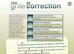 Une grille de correction de fautes pour copie d'élève (OPVG) |