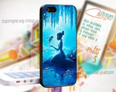 Triana and The Frog - Print On Hard Case iPhone 5 Case