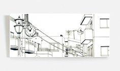 Y este reloj integrado en un cuadro manga?   Canvas Works by Noto Fusai for Comicalu.