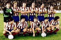 EQUIPOS DE FÚTBOL: ATLÉTICO DE MADRID contra Real Madrid 07/11/1987