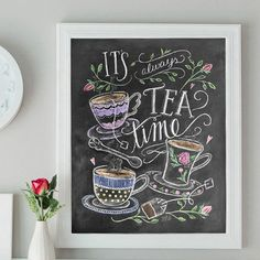 It's Always Time for Tea - Print #Coffee #Food #Gifts