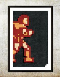 "Retro NES Castlevania inspired print 11X17""."