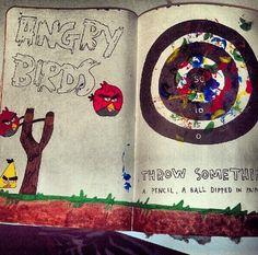 Wreck this journal.. ha! Super cute. :)