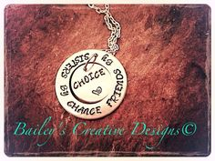 Custom Hand Stamped Sister Necklace