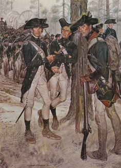 The American Soldier H Charles McBarron.  Southern states officer, artilleryman and soldier, 1782.