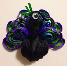 Featuring my carefully handcrafted Proud Peacock Ribbon Sculpture made to give the essence of the full, beautiful feathers of a peacock, its most