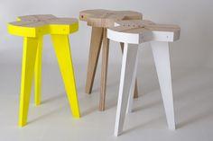 Offset stool, design by Giorgio Biscaro  http://www.giorgiobiscaro.com/