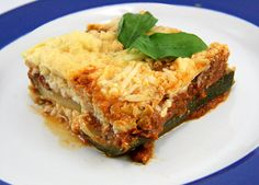 Lasagna made w/ Zucchini instead of noodles