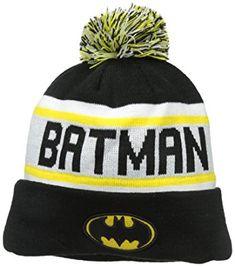 New Era Cap Men s Batman Biggest Fan Redux Pom Knit Beanie Review 4c634dc254a3