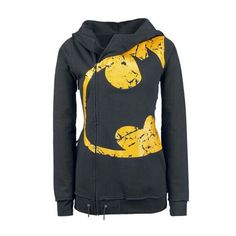 Zipper Closure Hooded Collar Black Sweats ($24) ❤ liked on Polyvore featuring tops, hoodies, sweatshirts, batman, shirts, jackets, sweaters, black, hooded pullover sweatshirt and hooded zip sweatshirt
