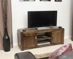 shiro walnut widescreen television cabinet cdr09b is an elegant range constructed using solid walnut