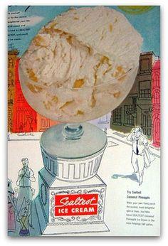Vintage Sealtest ice cream ad, 1951