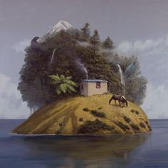 the hut Barry Ross Smith New Zealand Art, Auckland, Art School, New Art, Decoupage, Art Gallery, Display, Artists, Artwork