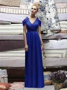 OMG. LOVE!! Chiffon sleeved bridesmaid dress