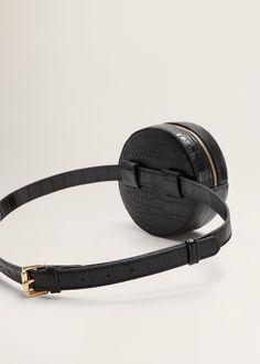 Brown Leather Messenger Bag, Leather Bag, Diy Sac Pochette, Mango Online Shop, Wooden Bag, Fast Fashion Brands, Crocodile, Hip Bag, Leather Keychain