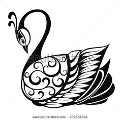 Illustrated Swan Tattoo Stock Photos, Images, & Pictures ...