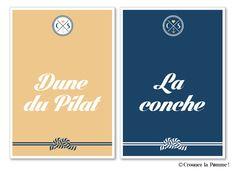 Noms de tables - Collection Faire-part Mariage Cap Ferret de Croquez la pomme ! Bord de mer - lin doré et marine  Wedding invitation ©croquezlapomme
