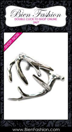Bold Rings | Bold Ring | Rings | Chunky Ring | Statement Ring | Cocktail Ring | Bien Fashion ♥ Deer Antler Adjustable Ring $74.00 - $149.00