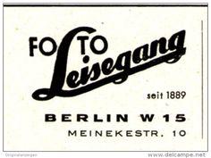 Original-Werbung/ Anzeige 1951 - FOTO LEISEGANG - BERLIN - ca. 40 X 30 mm