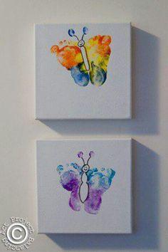 Homemade footprint butterflies