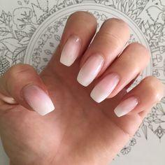 1. Baby boomer #babyboomer #baby #boomer #nails #pink #white #long #coffin #shape