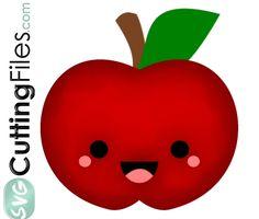 FREE SVG Kawaii Apple
