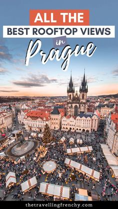Popular for its orange colored rooftops and gothic towers, Prague is best viewed from above. Here is the ultimate list of all the rooftop views in Prague! Europe On A Budget, Europe Travel Tips, Travel Guides, European Travel, Budget Travel, Amazing Destinations, Travel Destinations, Cool Places To Visit, Places To Go