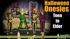 Halloween Onesies at Kiwi Sims 4 via Sims 4 Updates The Sims, Sims Cc, Toddler Outfits, Girl Outfits, Free Sims 4, Sims 4 Studio, Halloween Onesie, Sims 4 Game, Sims 4 Update