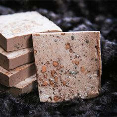 Nope, it's not candy - it's homemade mint chocolate soap.