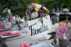 Personaliza tus mesas en tu boda. Sapecial names for tables. GS Events Puerto Vallarta Bodas / Weddings