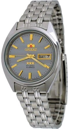 Men's Wrist Watches - Orient Mens Tri Star Gray Dial Standard Self Winding Automatic Watch >>> You can find more details by visiting the image link. Cool Watches, Wrist Watches, Women Brands, Automatic Watch, Omega Watch, Chronograph, Image Link, Stuff To Buy, Accessories