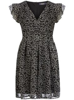 Black skull printed dress  #DorothyPerkins