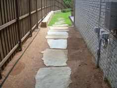 Stone Sidewalk  Stepping Stone Walkway  sidewalk ideas  Pinterest ...