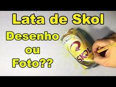 Lata de Skol Desenho ou Foto? - YouTube