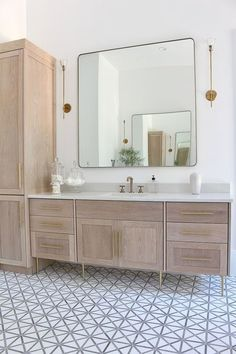 The Forest Modern: Modern Vintage Master Bathroom Reveal! 2019 The Forest Modern: Modern Vintage Master Bathroom Reveal! The House of Silver Lining The post The Forest Modern: Modern Vintage Master Bathroom Reveal! 2019 appeared first on Bathroom Diy. Bathroom Renos, Bathroom Renovations, Small Bathroom, Bathroom Ideas, Bathroom Cabinets, Brown Bathroom, Oak Cabinets, Bathroom Storage, Bathroom Bin