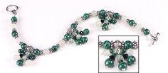 Jewelry Making Idea: Malachite and Jade Necklace (eebeads.com)