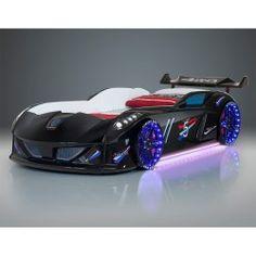 Cama coche con sonidos y mando a distancia, luces opcionales - M01