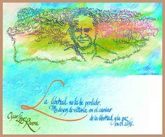 Libertad para Oscar López. Arte y diseño de Antonio Martorell.