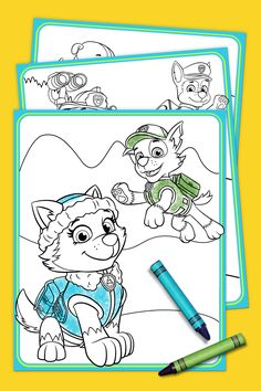 PAW Patrol – Everest Coloring Pack