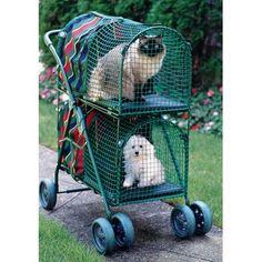 Kittywalk Systems Double Decker Standard Pet Stroller