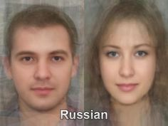The typical Russian face from thousands and thousands of images of everyday people compiled together into one composite portrait. To see more, go here. http://www.mediadump.com/hosted-id167-average-faces-from-around-the-world.html