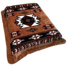 Amazon.com - Southwest Native American Print Soft Blanket - Bed Blankets